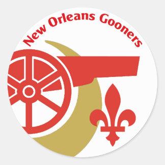 De Sticker van de Cirkel van NOLA Gooners