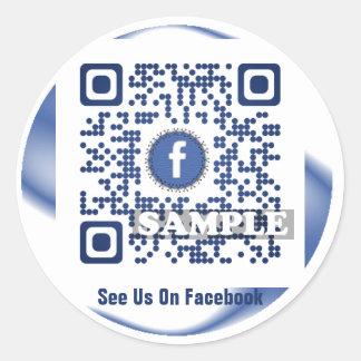 De Sticker van de Code van Facebook QR (Sjabloon