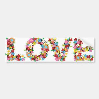 De sticker van de de bloemenbumper van de liefde!