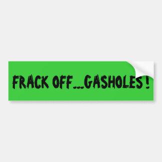 De sticker van de de douanebumper van Fracking