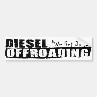 De Sticker van de diesel Bumper van Offroading