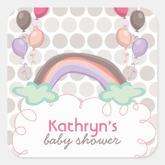 De Sticker van de Douche van de regenboog & van