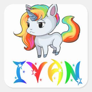 De Sticker van de Eenhoorn van Ivan