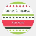 De Sticker van de Gift van het Stip van Kerstmis