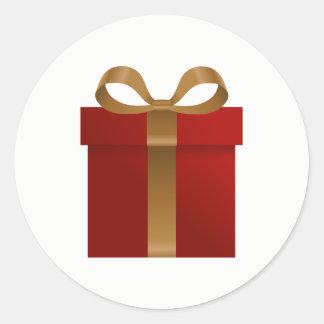 De Sticker van de Groet van Kerstmis van de Gift