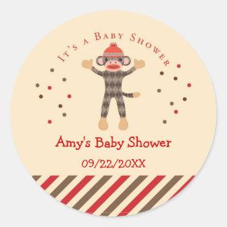 De Sticker van de Gunst van het Baby shower van de