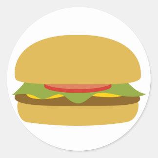 De Sticker van de hamburger