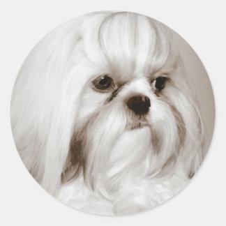 De Sticker van de Hond van Tzu van Shih
