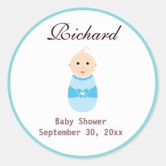 De Sticker van de Jongen van het baby shower
