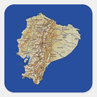 De Sticker van de Kaart van Ecuador