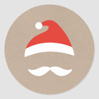 De Sticker van de Kerel van de kerstman