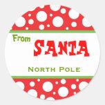 De Sticker van de Kerstman van Kerstmis