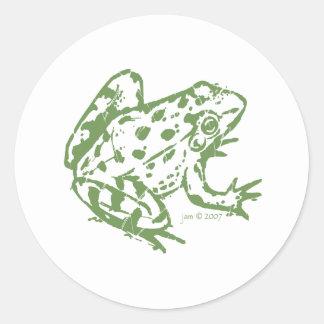 De Sticker van de kikker