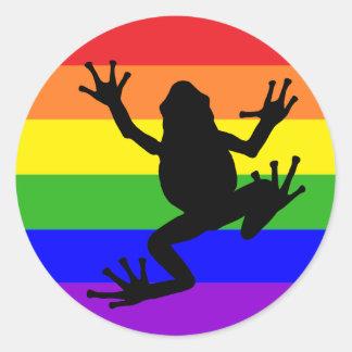 De sticker van de Kikker van de regenboog