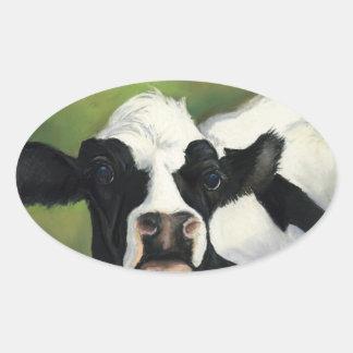 De Sticker van de Kunst van de Close-up van de koe