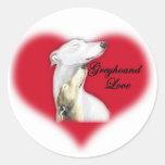 De Sticker van de Kunst van de Hond van de Liefde