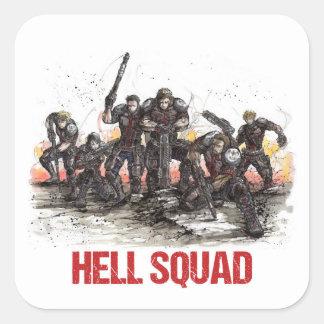 De Sticker van de Ploeg van de hel