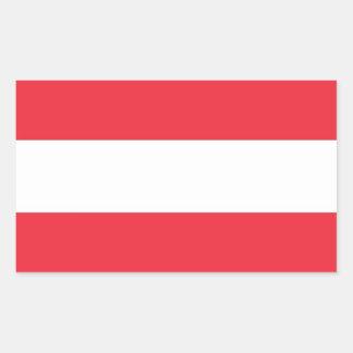 De sticker van de rechthoek met Vlag van