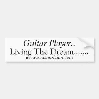 De Sticker van de Speler van de gitaar