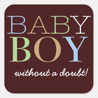 De Sticker van de Stem van de Jongen van het baby