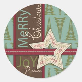 De Sticker van de Ster van Kerstmis