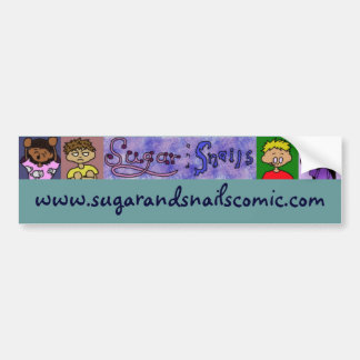 De Sticker van de suiker en van de Bumper van Slak
