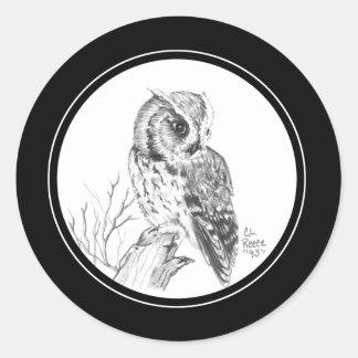 De Sticker van de Uil van de doordringende kreet