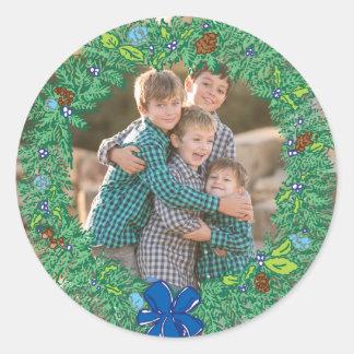 De Sticker van de Vakantie van de foto: Het ronde