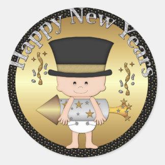 De Sticker van de Vakantie van de Nieuwjaren van