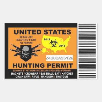 De Sticker van de Vergunning van de Jacht van de