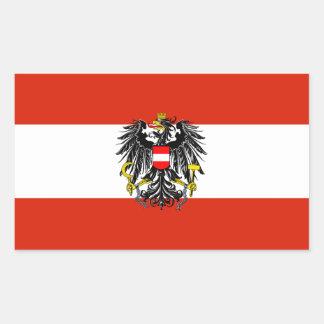 De Sticker van de Vlag van de Staat van Oostenrijk