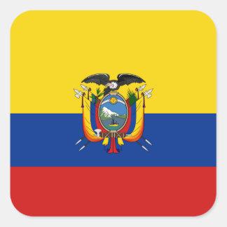 De Sticker van de Vlag van Ecuador