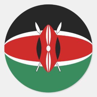 De Sticker van de Vlag van Kenia Fisheye