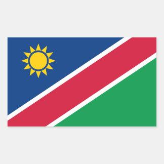 De Sticker van de Vlag van Namibië