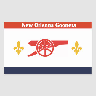 De Sticker van de Vlag van NOLA Gooners