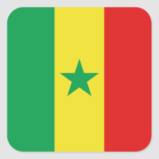 De Sticker van de Vlag van Senegal