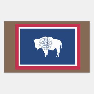 De Sticker van de Vlag van Wyoming
