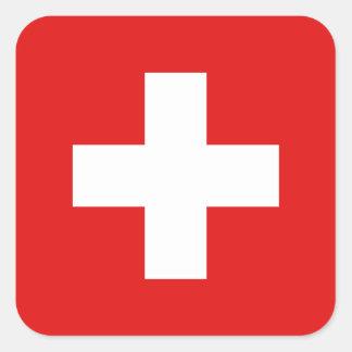 De Sticker van de Vlag van Zwitserland