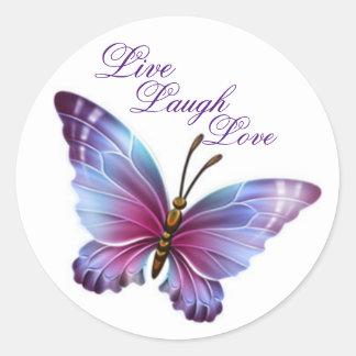 """De Sticker van de vlinder/de Paarse """"Levende"""