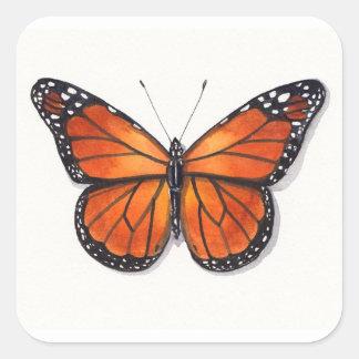 De Sticker van de Vlinder van de monarch