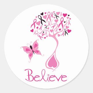 De Sticker van de Voorlichting van Kanker van de