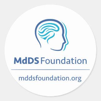 De Sticker van de Voorlichting van MdDS, 1 duim ½