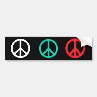 De Sticker van de vrede Bumpersticker