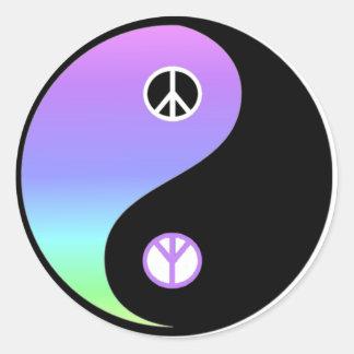 De sticker van de vrede en van het Saldo