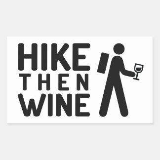 De Sticker van de Wijn van de stijging toen