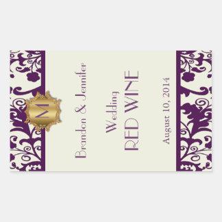 De Sticker van de Wijn van het Huwelijk van het