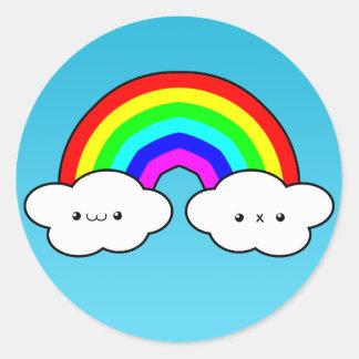 De Sticker van de Wolk van de regenboog