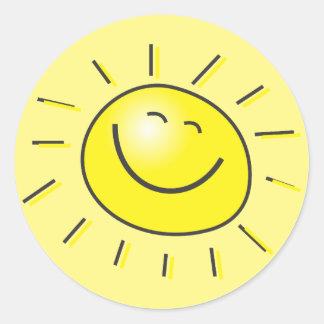 De Sticker van de zonneschijn
