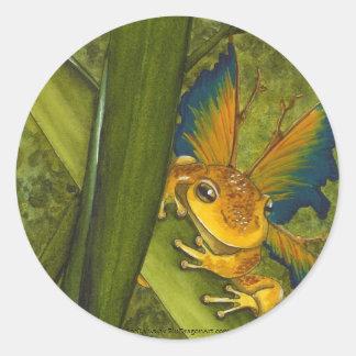 De sticker van Faery van de Kikker