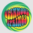 De Sticker van Glenwood Springs Hippy Trippy